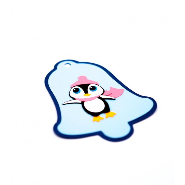 Creative Designs | Ornament Craciun Clopotel cu pinguin
