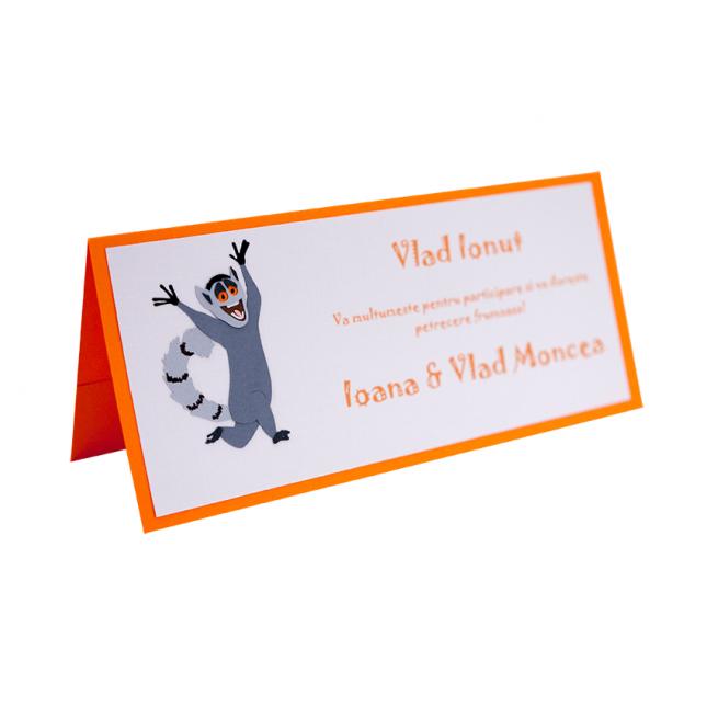 Card Asezare Botez Madagascar - King Julien