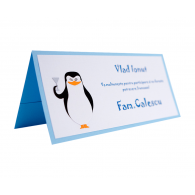 Card Asezare Botez Madagascar - The Penguins